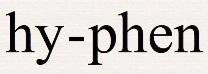 Hyphen names