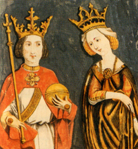 King Rupert and Queen Elisabeth