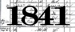 1841 - The year of the first census